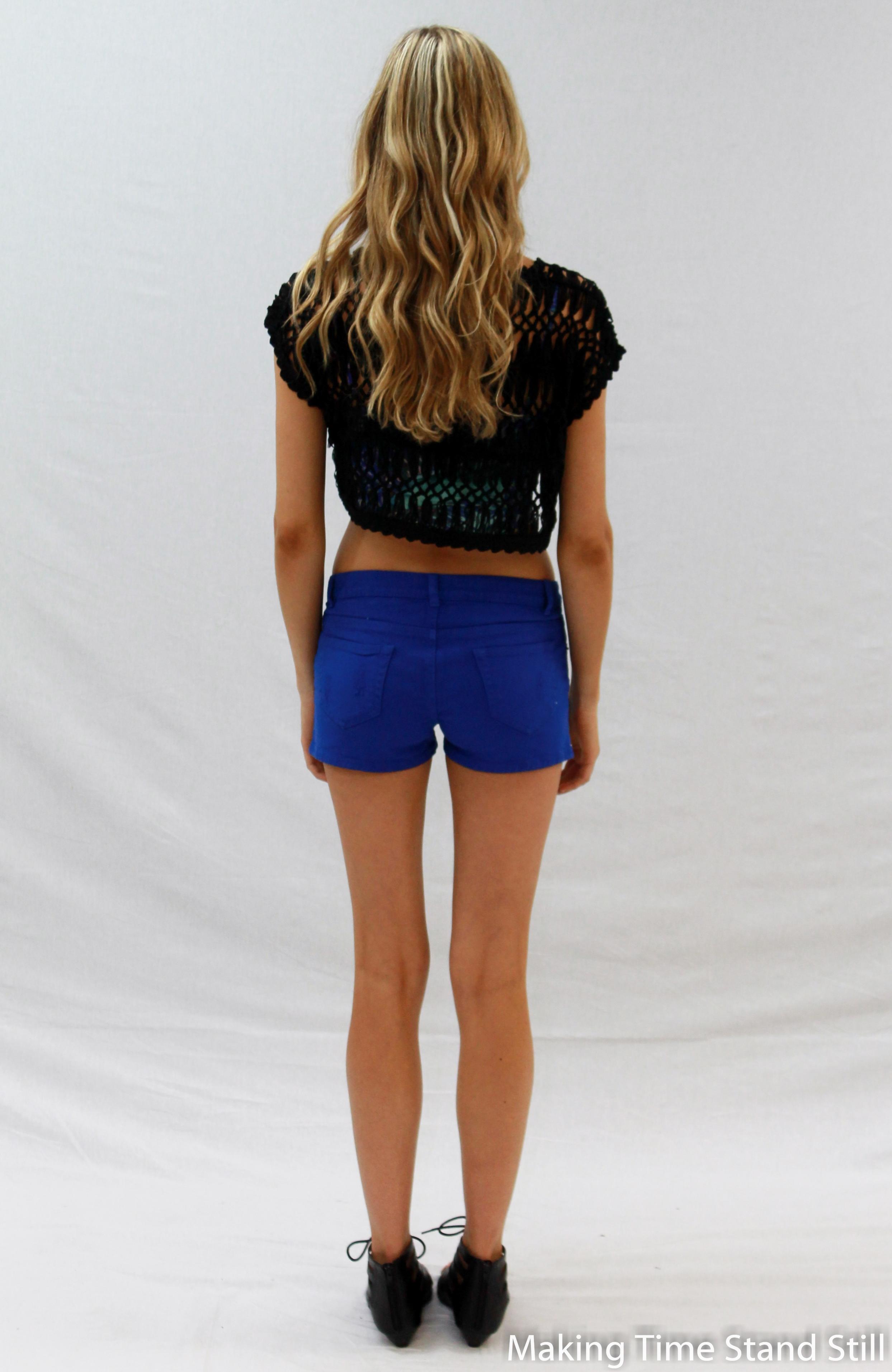 Royal Blue Denim Shorts |